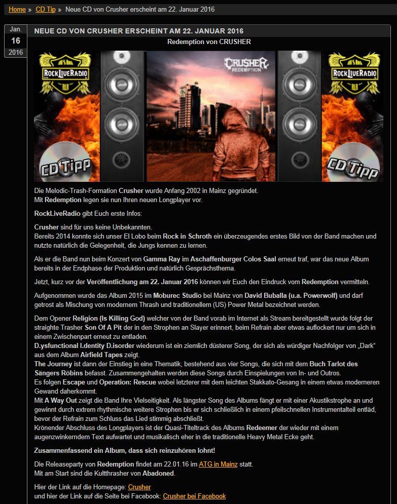 2016-01-25 12_53_00-RockLiveRadio _ Neue CD von Crusher erscheint am 22. Januar 2016